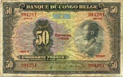 50 Francs CONGO BELGE  1946 P.16d pr.TB