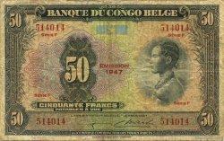 50 Francs CONGO BELGE  1947 P.16e pr.TB