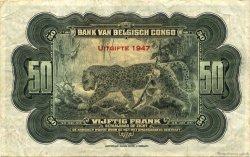 50 Francs CONGO BELGE  1947 P.16e TTB