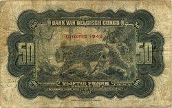 50 Francs CONGO BELGE  1948 P.16f B