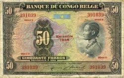 50 Francs CONGO BELGE  1948 P.16f TB