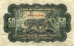 50 Francs CONGO BELGE  1948 P.16f TTB