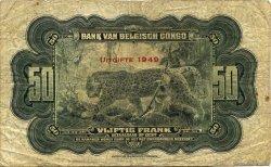 50 Francs CONGO BELGE  1949 P.16g B