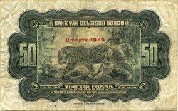 50 Francs CONGO BELGE  1949 P.16g TB