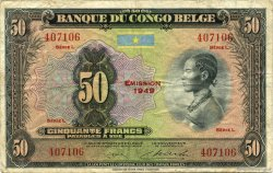 50 Francs CONGO BELGE  1949 P.16g TTB