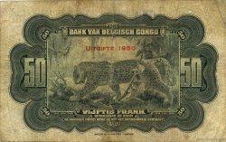 50 Francs CONGO BELGE  1950 P.16h B