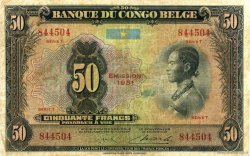 50 Francs CONGO BELGE  1951 P.16i B+