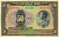 50 Francs CONGO BELGE  1952 P.24 TTB