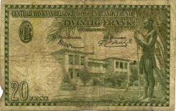 20 Francs CONGO BELGE  1954 P.26 B