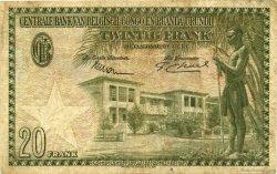 20 Francs CONGO BELGE  1954 P.26 TB