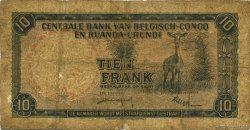 10 Francs CONGO BELGE  1957 P.30b B