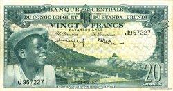 20 Francs CONGO BELGE  1957 P.31
