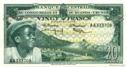 20 Francs CONGO BELGE  1957 P.31 pr.NEUF