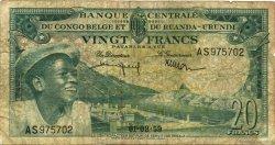 20 Francs CONGO BELGE  1959 P.31 B