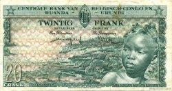 20 Francs CONGO BELGE  1959 P.31 TTB+