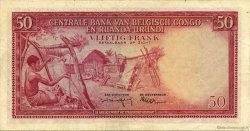 50 Francs CONGO BELGE  1957 P.32 TTB