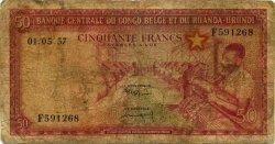 50 Francs CONGO BELGE  1957 P.32 AB