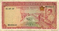 50 Francs CONGO BELGE  1957 P.32 B+