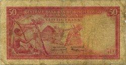 50 Francs CONGO BELGE  1957 P.32 B
