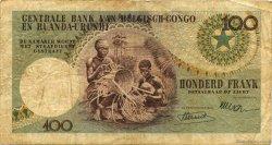 100 Francs CONGO BELGE  1955 P.33a TB+