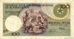 100 Francs CONGO BELGE  1955 P.33a TTB