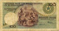 100 Francs CONGO BELGE  1955 P.33a B