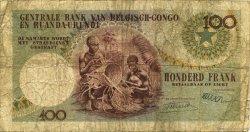 100 Francs CONGO BELGE  1956 P.33a AB