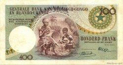 100 Francs CONGO BELGE  1956 P.33a TTB+