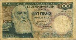 100 Francs CONGO BELGE  1956 P.33b pr.TB