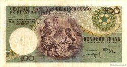 100 Francs CONGO BELGE  1956 P.33b TTB