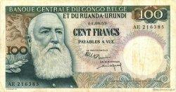100 Francs CONGO BELGE  1959 P.33b pr.TTB