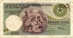 100 Francs CONGO BELGE  1959 P.33b TTB