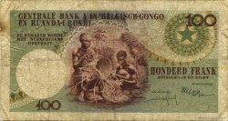 100 Francs CONGO BELGE  1960 P.33c B