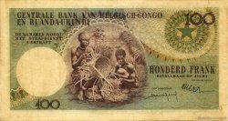 100 Francs CONGO BELGE  1960 P.33c pr.TTB