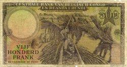 500 Francs CONGO BELGE  1957 P.34 B