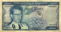 1000 Francs CONGO BELGE  1958 P.35 TB