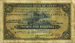 25 Piastres ÉGYPTE  1951 P.010f B+