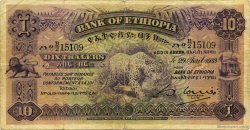 10 Thalers ÉTHIOPIE  1933 P.08 TB