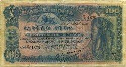 100 Thalers ÉTHIOPIE  1932 P.10 TB+