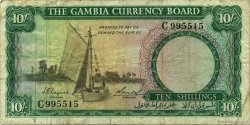10 Shillings GAMBIE  1965 P.01a pr.TB