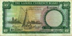 10 Shillings GAMBIE  1965 P.01a TTB