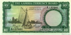 10 Shillings GAMBIE  1965 P.01a NEUF