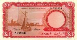 1 Pound GAMBIE  1965 P.02a pr.NEUF