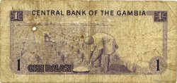 1 Dalasi GAMBIE  1971 P.04c TB