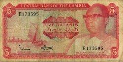 5 Dalasis GAMBIE  1972 P.05a TB