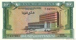 10 Shillings GHANA  1958 P.01a NEUF