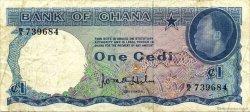 1 Cedi GHANA  1965 P.05a TB