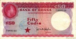 50 Cedis GHANA  1965 P.08a TTB
