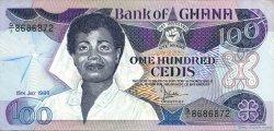 100 Cedis GHANA  1986 P.26a SPL