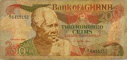 200 Cedis GHANA  1989 P.27b B+